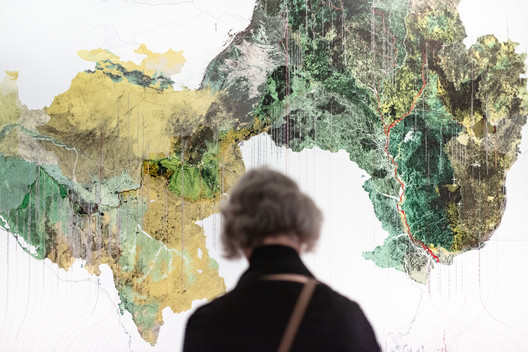 Maps exhibited in New York. Photo © On White Wall
