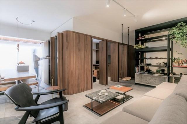 Apartamento IMO / flipê arquitetura. Foto © Rodrigo Xavier