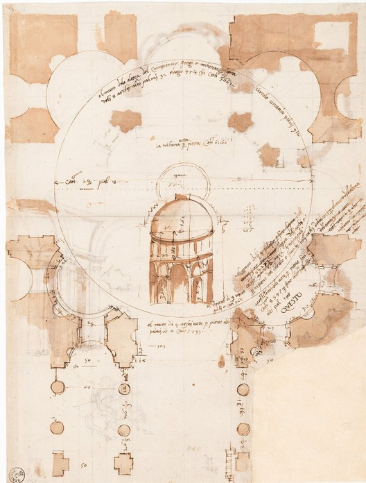 Early 16th Century drawing by Baldassare Peruzzi. Image Courtesy of ORO Editions