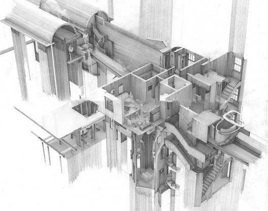 Hybrid Category - Apartment #5, a Labyrinth and Repository of Spatial. Image Courtesy of World Architecture Festival