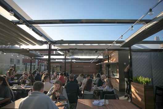 25 Lusk Rooftop Restaurant in San Francisco, California. Image Courtesy of ShadeFX Canopies