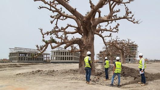El proyecto de IDOM para el Parque tecnológico de Senegal, en construcción. Image Cortesía de IDOM