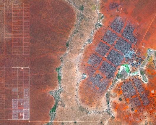 Refugee camp in Dadaab, Northeast Kenya. Created by @benjaminrgrant, source imagery: @digitalglobe. Image
