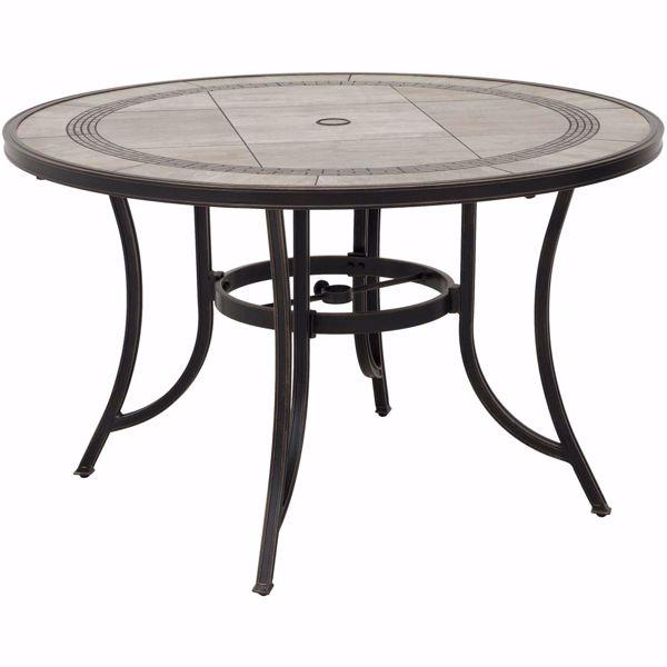 barnwood 60 round tile top patio table
