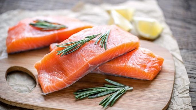 pieces of salmon, which can reduce inflammation
