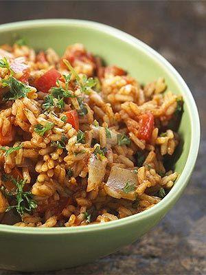 brown rice with veggies