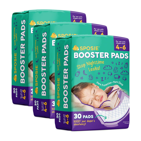 Best Overnight Diapers - Sposie Booster Pads Diaper Doubler