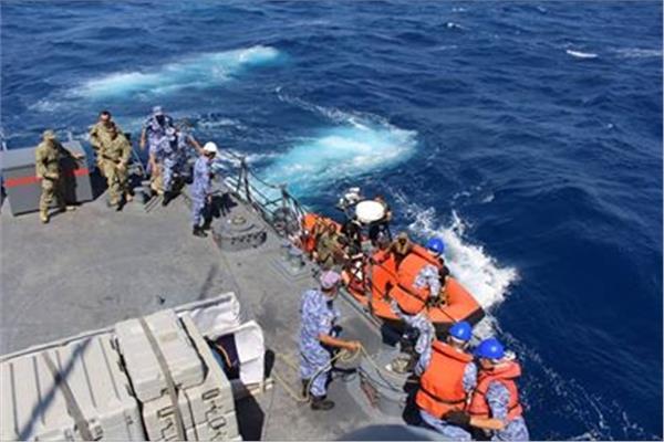 نتيجة بحث الصور عن ختام فعاليات التدريب البحري المشترك «تحية النسر..استجابة النسر 2018»