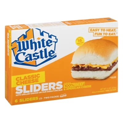 white castle microwaveable cheeseburgers 6 count