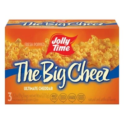 jolly time microwave popcorn the big cheez 3 3 oz