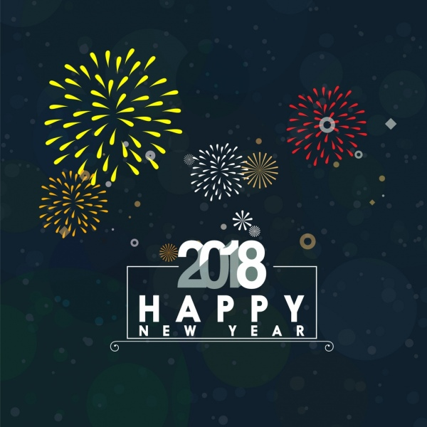 2018 new year background