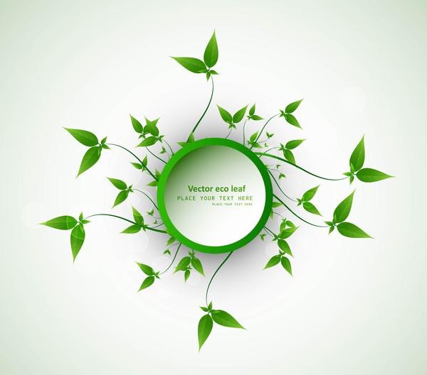 Abstract Eco Green Lives Circle Frame Vector Design Free