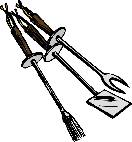 Fork Grill Art Clip Large