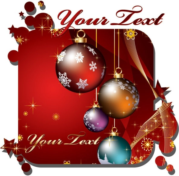 christmas is the day that holds all time together. Beautiful christmas cards vector Free vector in ...