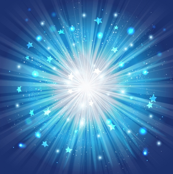 Blue Star Burst Background Free vector in Adobe ...