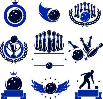 Download Bowling logos illustration design vector Free vector in ...
