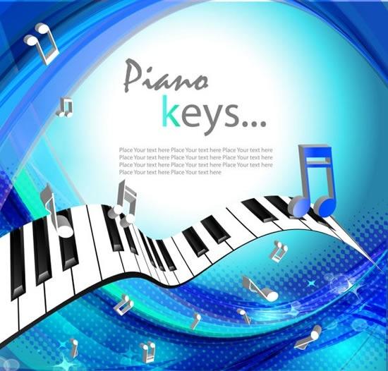 Brilliant Piano Keys Vector Free Vector In Encapsulated