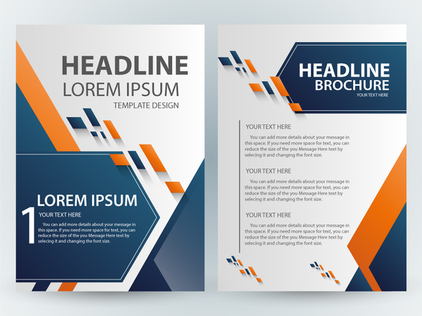Brochure template design with abstract modern style Free vector in     brochure template design with abstract modern style
