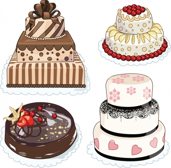 Cartoon Wedding Cake Pictures Free Vector Download 20 276