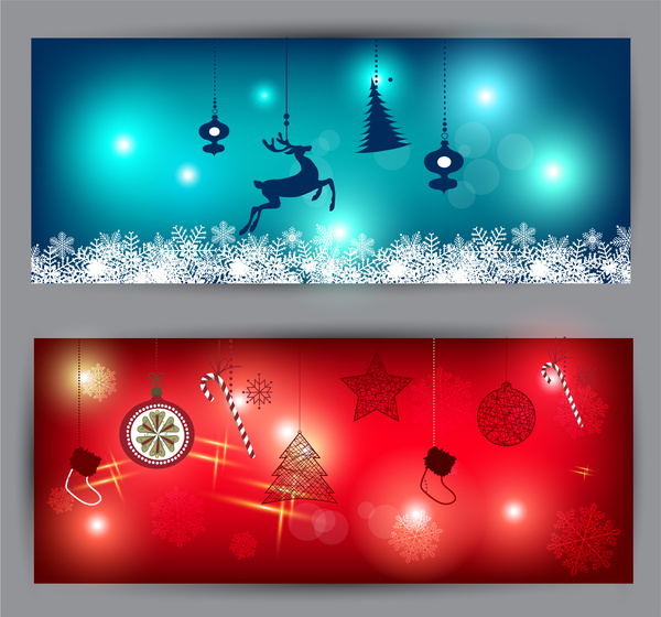 Christmas Banner Illustration Free Vector In Adobe