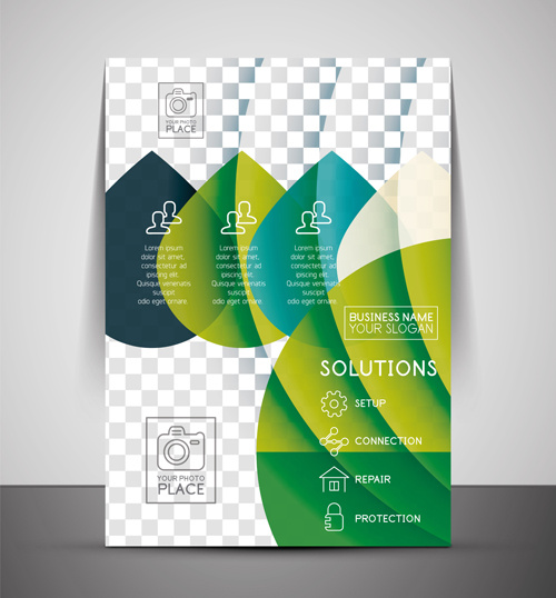 Annual Report Cover Page Design Adobe Illustrator Free Vector Download 227931 Free Vector For