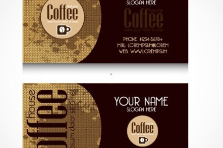 Creative coffee business card vector Free vector in Encapsulated     creative coffee business card vector