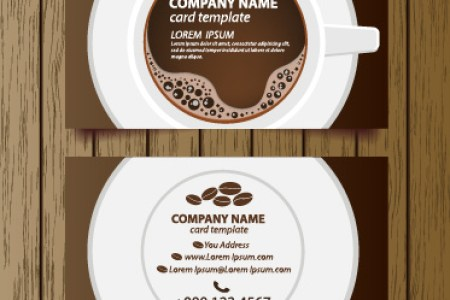 Creative coffee house business cards vector graphic Free vector in     Creative coffee house business cards vector graphic Free vector 1 86MB
