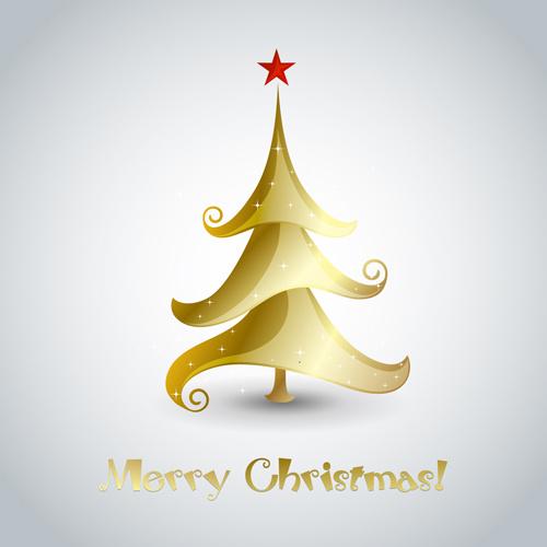 Creative Xmas Tree Christmas Cards Vector Free Vector In