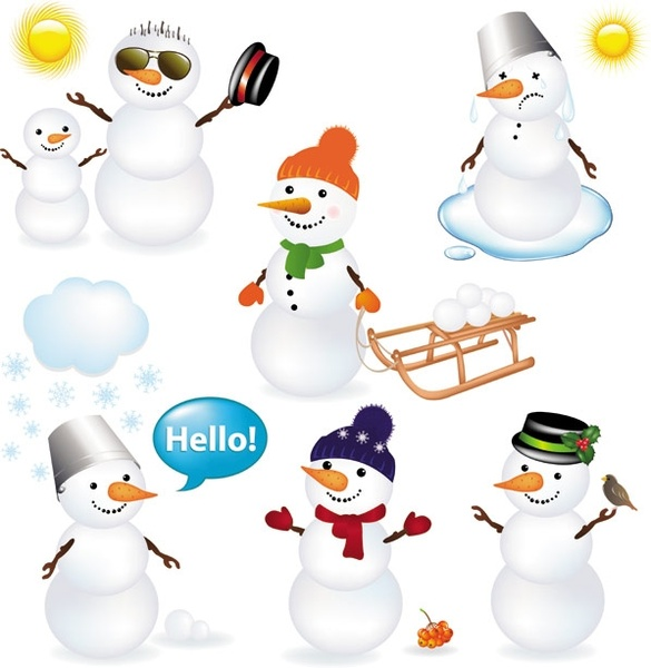Cute Snowman Vector Free Vector In Encapsulated PostScript