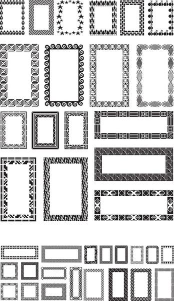 Different Black Frames Vector Set Free Vector In Adobe