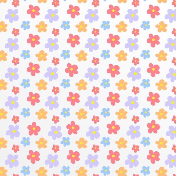 Flower pattern background Free vector in Adobe Illustrator