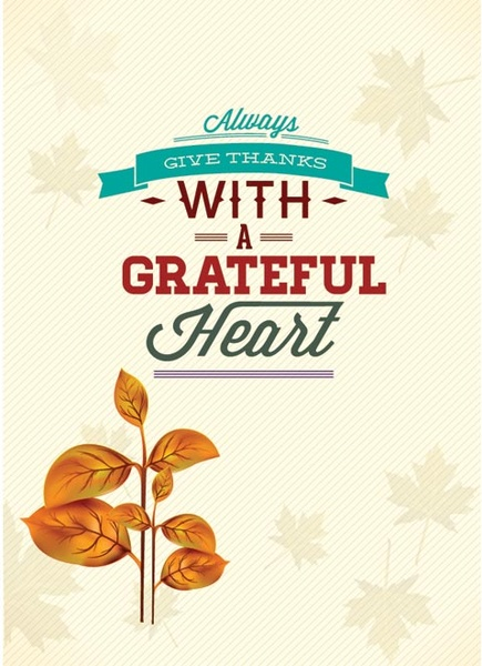 free vector always give thanks happy thanksgiving invitation card