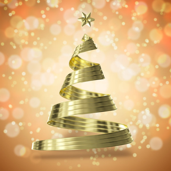 Gold Christmas Tree Free Psd In Photoshop Psd Psd