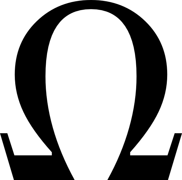 Greek Omega Small Clip Art Free Vector In Open Office