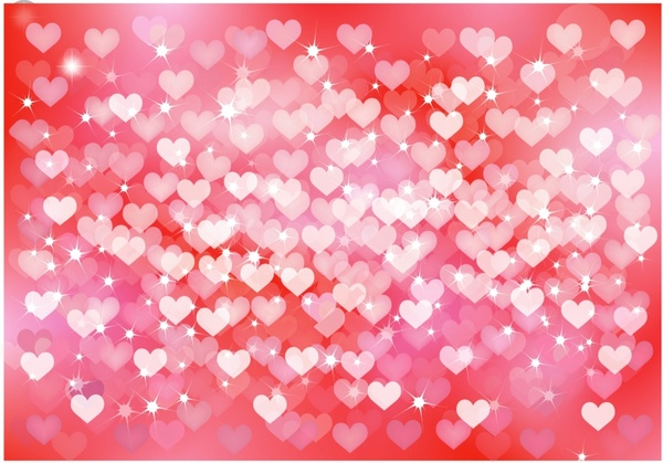 Heart Background Free Vector In Adobe Illustrator Ai AI