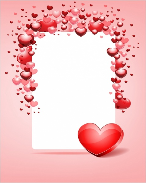 Card Background Design For Valentine Day Free Vector