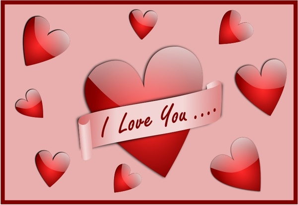Download I Love You Card Free vector in Open office drawing svg ...