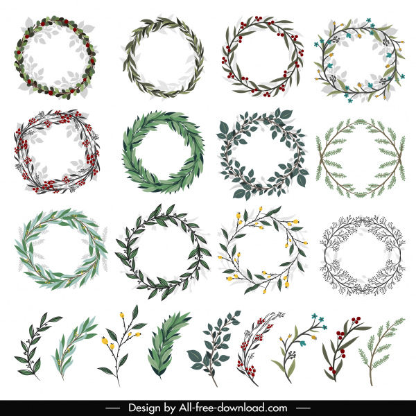 wreath template free # 14