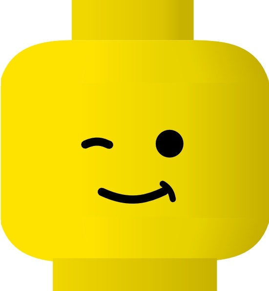Lego Smiley Wink clip art