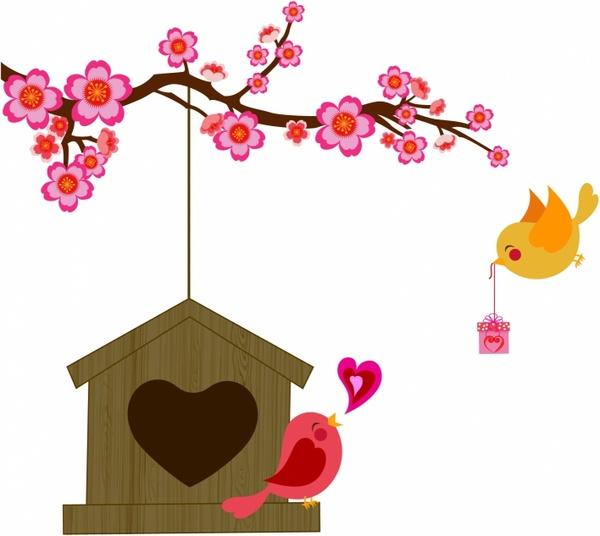 Download Love bird Free vector in Adobe Illustrator ai ( .AI ...