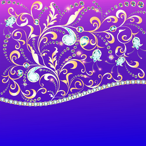 Diamond Jewelry Background Vector Free Vector Download