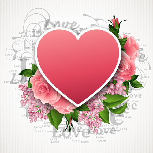 Valentine Day Flowers Free Vector Download 14144 Free