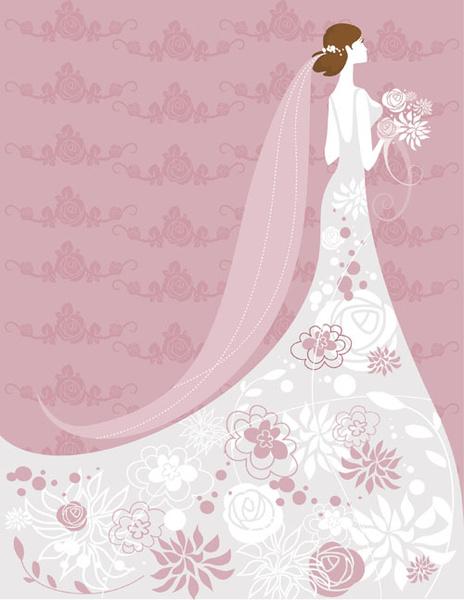 Set Of Romantic Wedding Vector Background Free Vector In Encapsulated Postscript Eps Eps Vector Illustration Graphic Art Design Format Format For Free Download 936 57kb