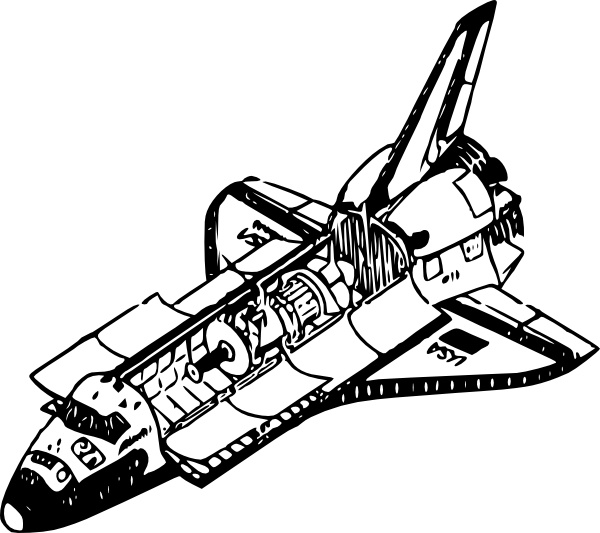 Space Shuttle clip art Free vector in Open office drawing
