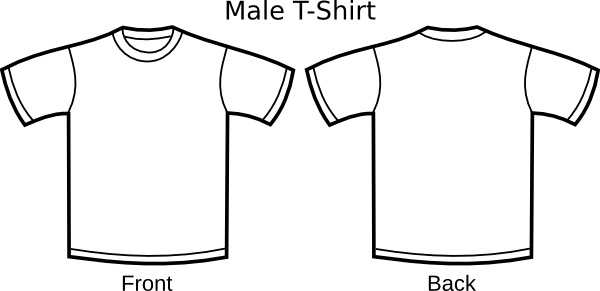 T Shirt Template clip art Free vector in Open office drawing ...