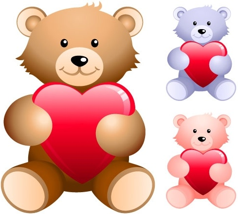 Love Teddy Bear Vector Free Vector Download 5119 Free