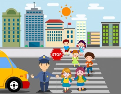 Image result for school children traffic street