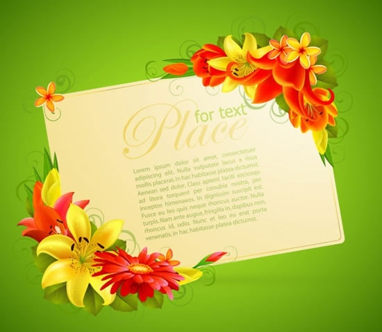 Floral Greeting Card Design Free Vector Download 18924