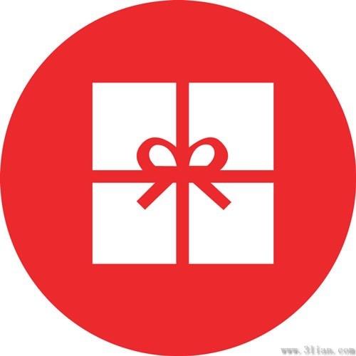 Vector Red Gift Box Icon Free Vector In Adobe Illustrator