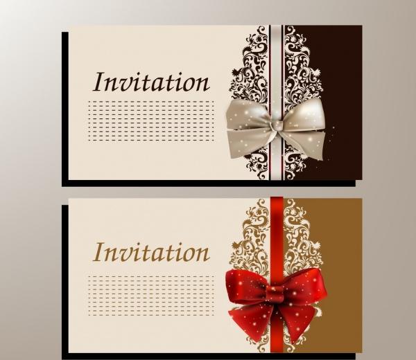 Wedding Card Template Knot Icon Shiny Clical Design